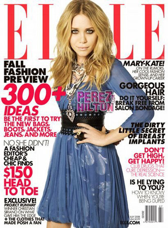 Mary Kate Olsen portada de la revista Elle US