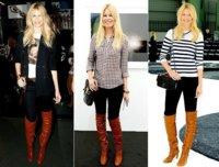 Claudia Schiffer y sus botas altas