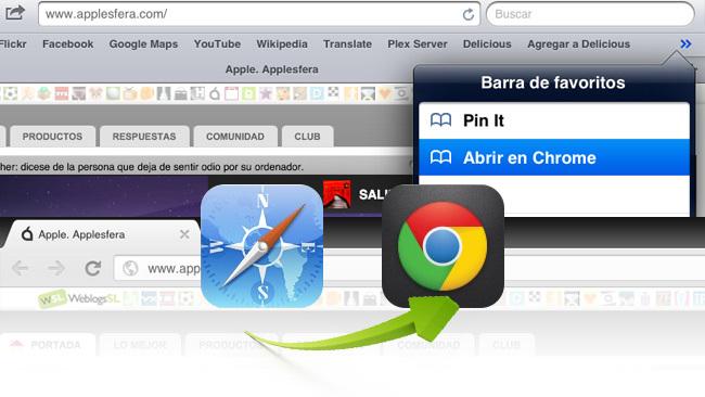 Pasar pestañas de Safari a Chrome