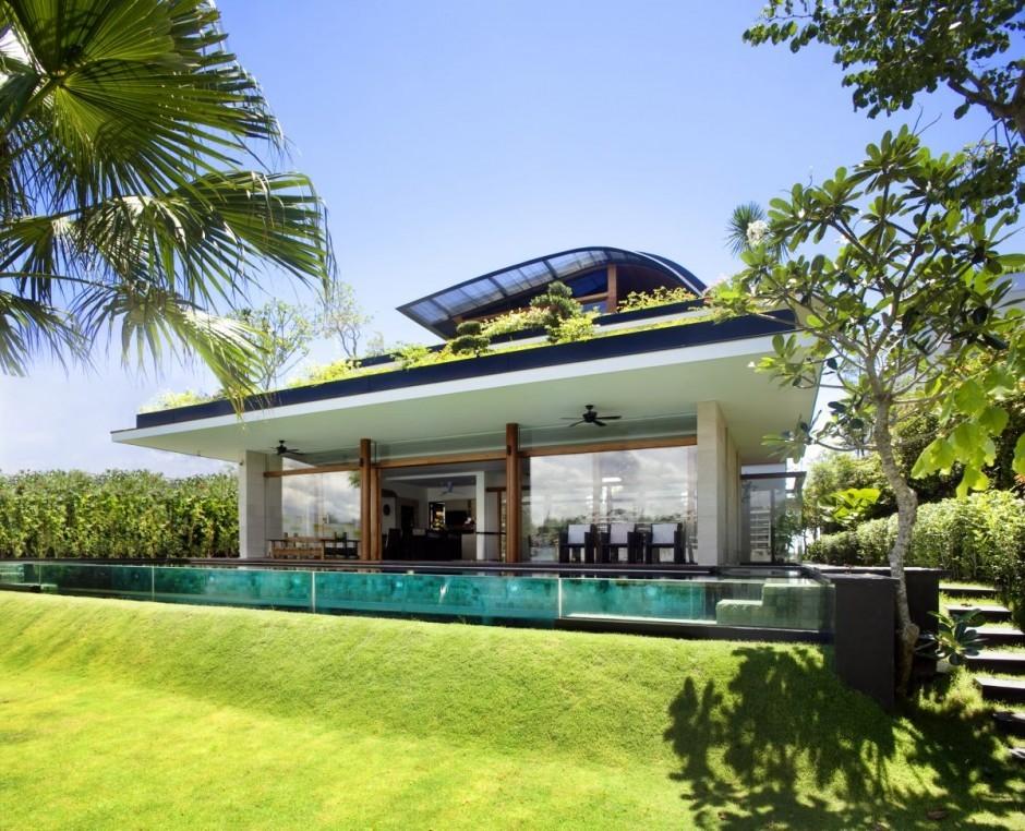 foto de casa de lujo en singapur con jardn en el tejado