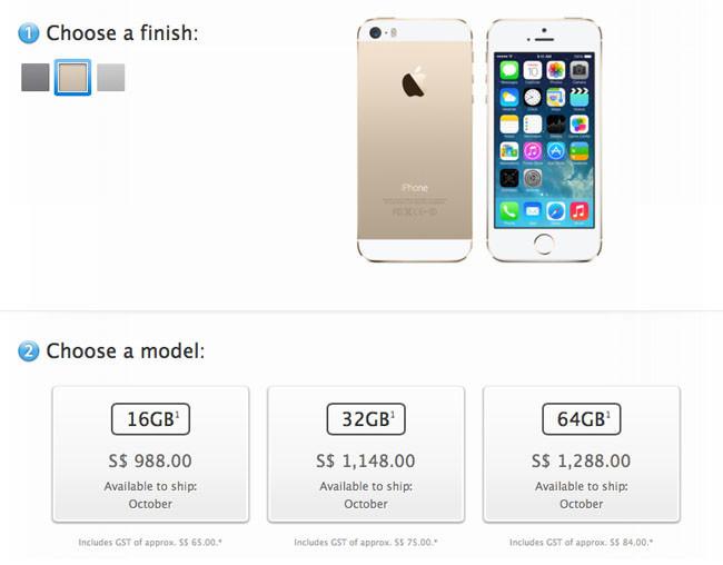 iPhone dorado en Singapur
