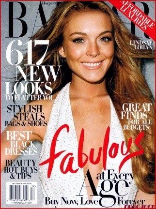 Lindsay Lohan espléndida en Harper's Bazaar