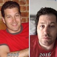 """Las divertidas fotografías de padres que muestran el """"antes y el después"""" de tener hijos"""