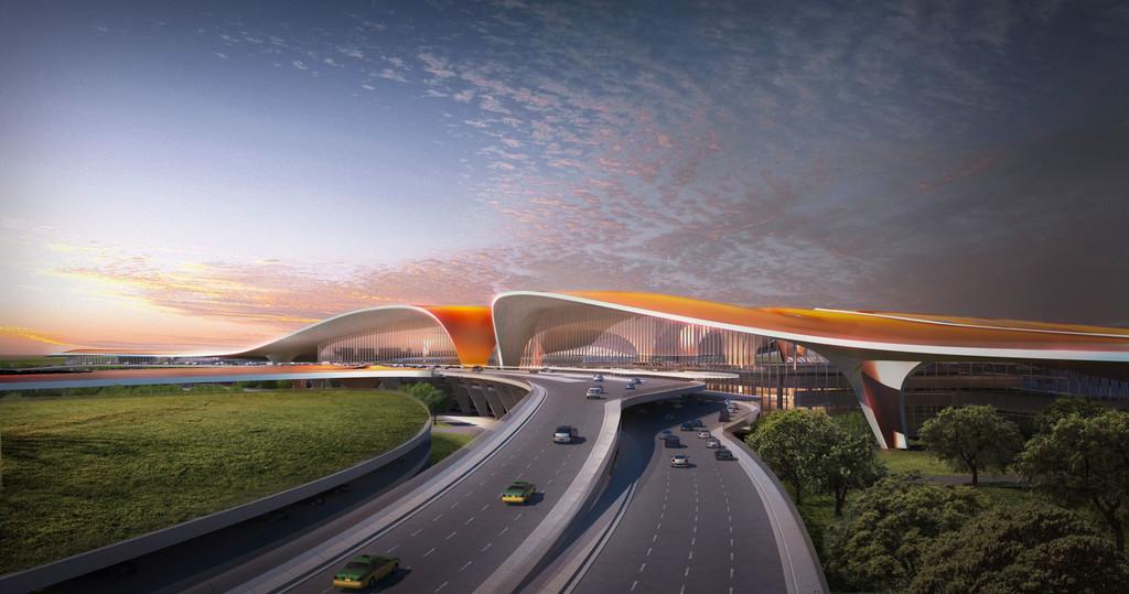 El nuevo aeropuerto de Pekín ya está construido: su terminal será la más grande del mundo con 700.000 metros cuadrados