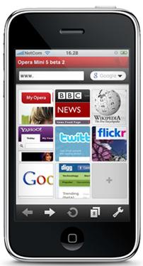 Opera Mini será presentado para el iPhone en el MWC