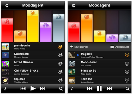 Moodagent, listas inteligentes desde tu iPhone e iPod touch