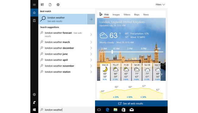 Cortana Resultados Rapidos
