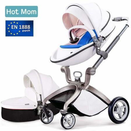 En Amazon tenemos este carrito para bebé Hot Mom por 399 euros y envío gratis