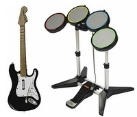 Instrumentos compatibles en PS3: 'Rock Band 2', 'Rock Revolution' y 'GH: World Tour'