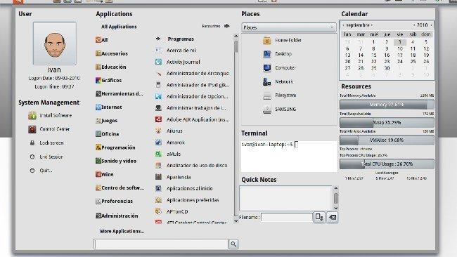 Ubuntu System Panel