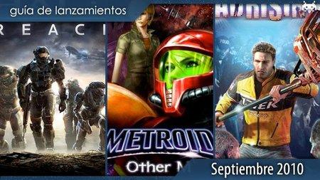 Guía de lanzamientos: septiembre de 2010