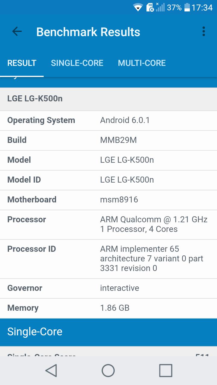 Benchmarks LG X Screen