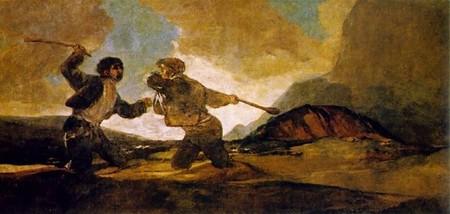 Goya, Duelo a garrotazos