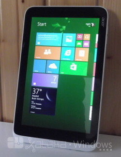 Acer Iconia W3 en vertical