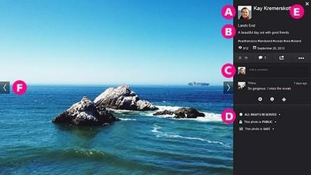 Flickr cambia de nuevo el diseño aumentando un 25% más en la visualización