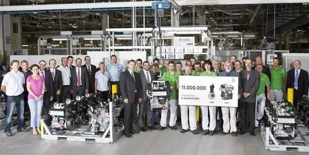 Los once millones de motores Škoda