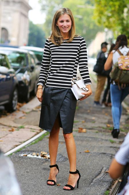 Las fashion insiders y las bloggers comparten falda de cuero, ¿ya tienes la tuya?
