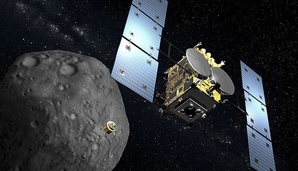 Así se las ingenia la sonda japonesa Hayabusa 2 para coger una muestra del asteroide Ryugu