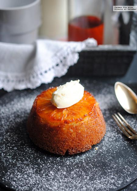 Cake individual de naranja y caramelo: receta de postre para rematar una comida o cena de celebración