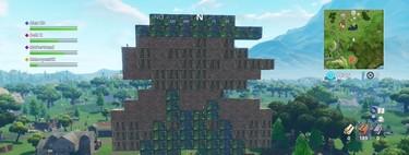 Hemos creado al alien de Space Invaders y a Mario en el modo Patio de Juegos de Fortnite