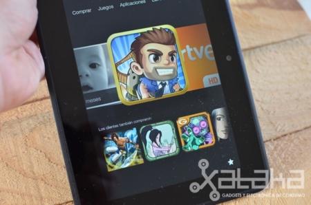 Kindle Fire HD análisis aplicaciones en carrusel