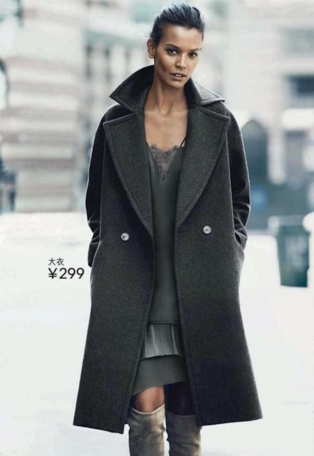 H&M catálogo Otoño 2014 junto a Liu Wen, Natasha Poly y Liya Kebede