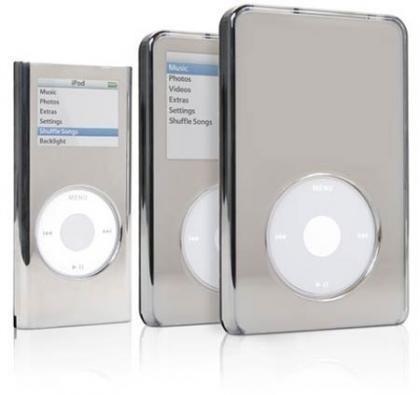 Fundas para iPod con efecto espejo