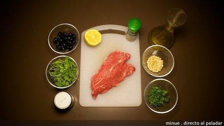 Entrecot salsa de olivas - ingredientes
