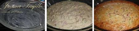 Preparación del pastel salado