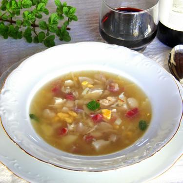 Sopa de picadillo tradicional andaluza, el plato de cuchara para iniciar la cenas navideñas