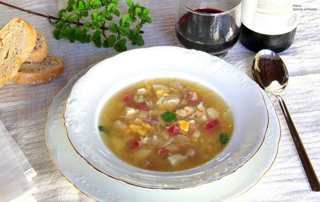 Sopa De Picadillo Tradicional Andaluza El Plato De Cuchara Tradicional De Andalucía