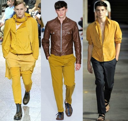 tendencias hombre color curry primavera 2012