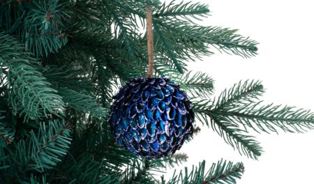 Bola Cascara Glitter Navidad El Corte Ingles