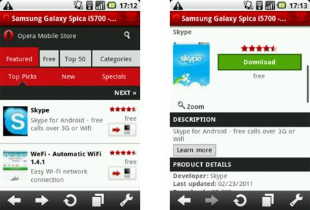 Opera Mobile Store, Opera lanza su tienda de aplicaciones para todos los móviles