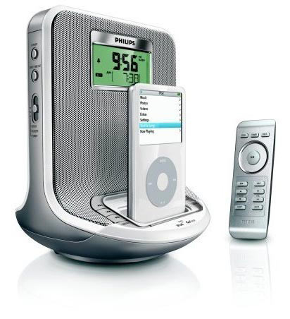 Philips AJ300D, altavoces, radio, despertador y dock para el iPod