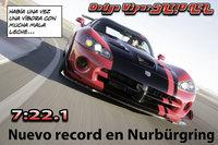 Nuevo record en Nurburgring: 7:22.1 para el Dodge Viper SRT10 ACR
