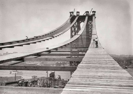 The Manhattan Bridge Being Built 1908 Photo U1
