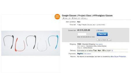 [Actualizado] Google Glass ya se oferta hasta por 15 000 dórales en eBay.