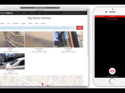 La víctima se convierte en reportero de una situación de emergencia con la app Parachute