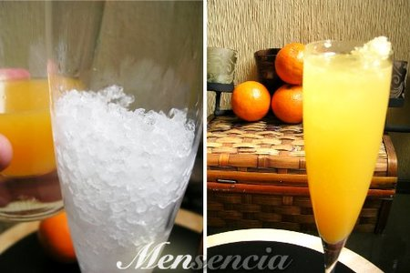 zumo de naranja y cava