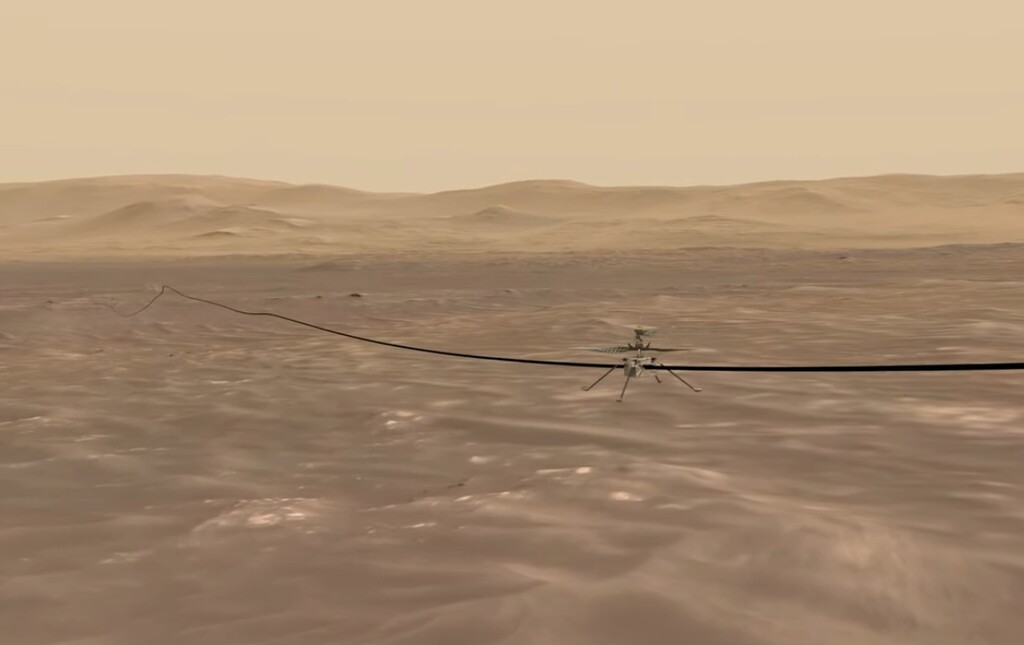 Ingenuity no se cansa de volar sobre Marte: ya lleva 10 vuelos y estos vídeos nos muestran cómo lo ve todo allá arriba