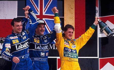 Podio GP México 1992