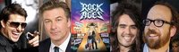 Tom Cruise, Alec Baldwin, Russell Brand y Paul Giamatti en 'Rock of Ages'