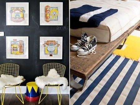Otro detalle del cuarto de los niños inspirado en la feria.