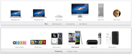 Linea de productos de Apple