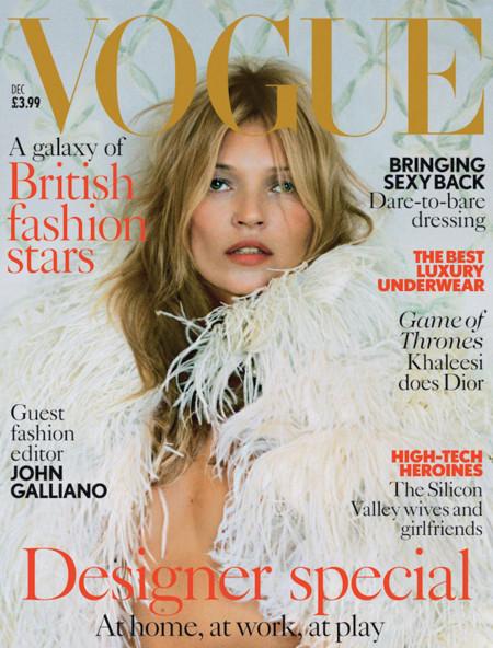 Kate Moss sigue siendo la diva de las portadas