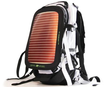 Mochila solar Neon Green, con la energía siempre a cuestas