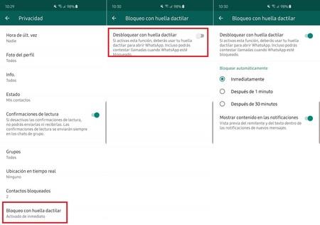 Whatsapp Anroid Activar Bloqueo Chats Huella Dactilar Mexico
