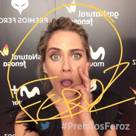 Los Premios Feroz 2017 se ven a golpe de selfie en la alfombra morada