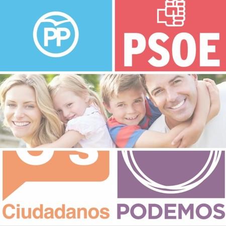 20D: Qué prometen PP, PSOE, Ciudadanos, y Podemos sobre familia y conciliación